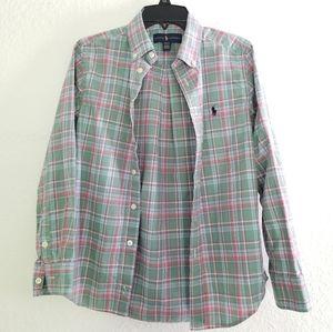 Ralph Lauren Boys Plaid Shirt Size M 10- 12